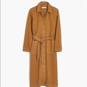 Madewell Garment Dyed Trench Duster Camel